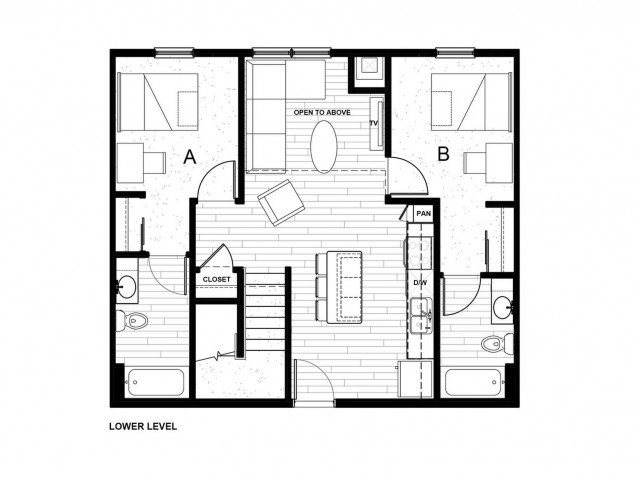 4 Bedrooms 4+ Bathrooms Apartment for rent at Latitude On Hillsborough Student Living in Raleigh, NC