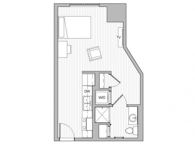 Studio 1 Bathroom Apartment for rent at The Link Minneapolis Low-rise in Minneapolis, MN