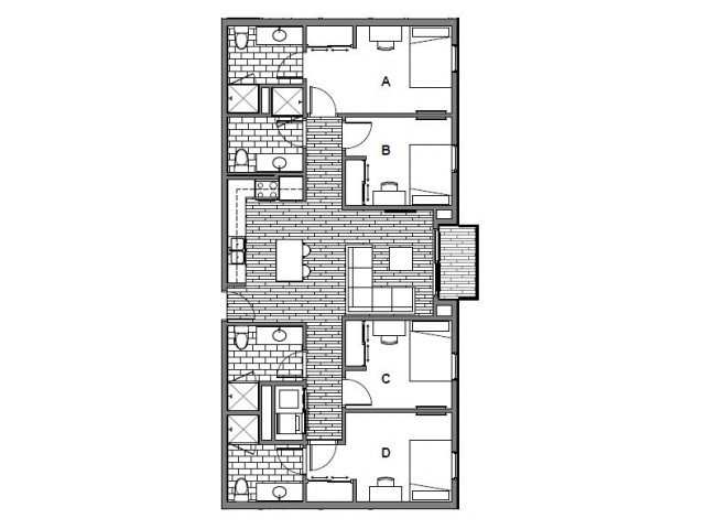 4 Bedrooms 4+ Bathrooms Apartment for rent at Onyx Student Living in Tallassee, FL