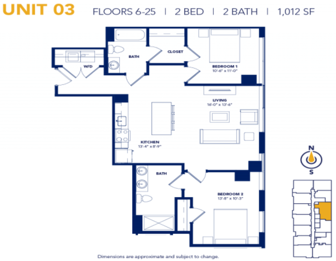 2 Bedrooms 2 Bathrooms Apartment for rent at Two Twelve Clayton in Clayton, MO