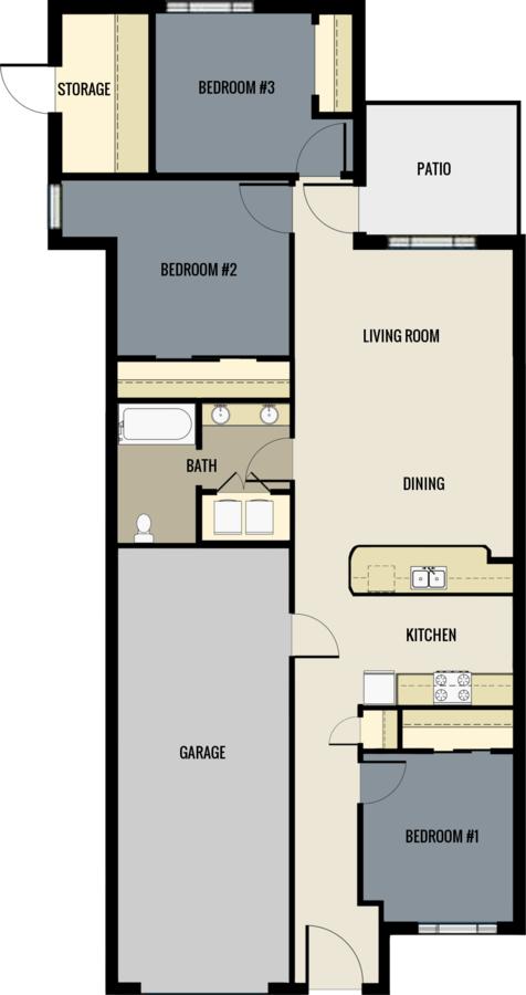 3 Bedrooms 2 Bathrooms Apartment for rent at Mission Village Of Sheboygan in Sheboygan, WI