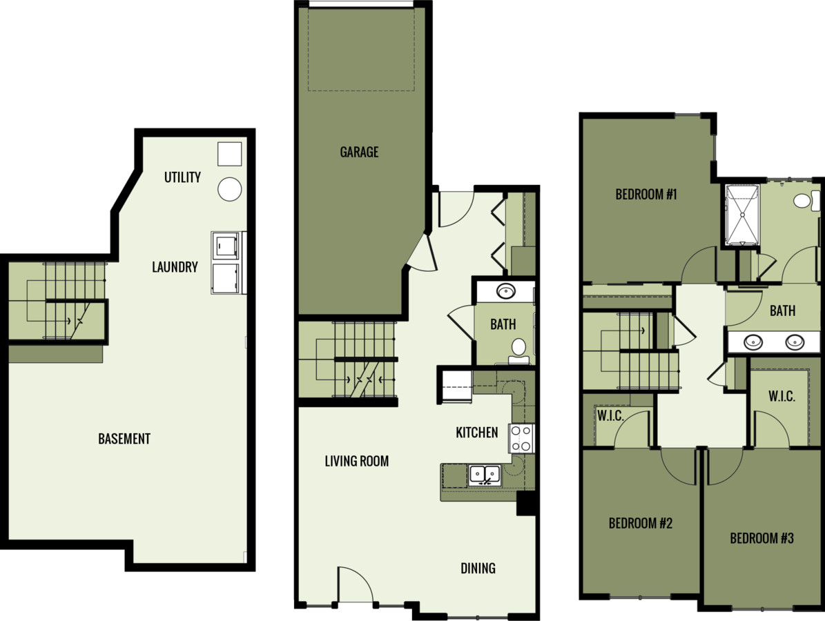 3 Bedrooms 2 Bathrooms Apartment for rent at Trinity Square in Fond Du Lac, WI