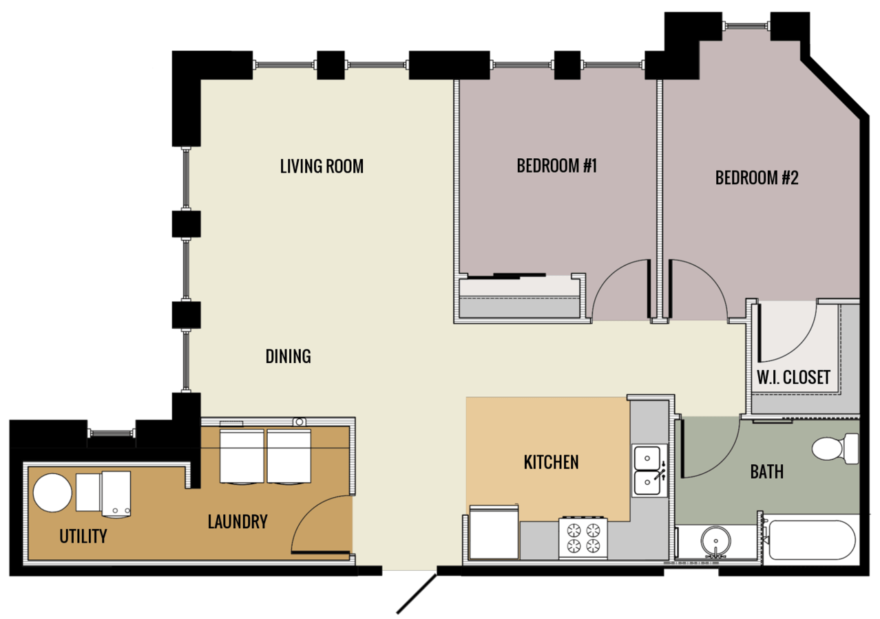 2 Bedrooms 1 Bathroom Apartment for rent at Lawler School Lofts in Prairie Du Chien, WI