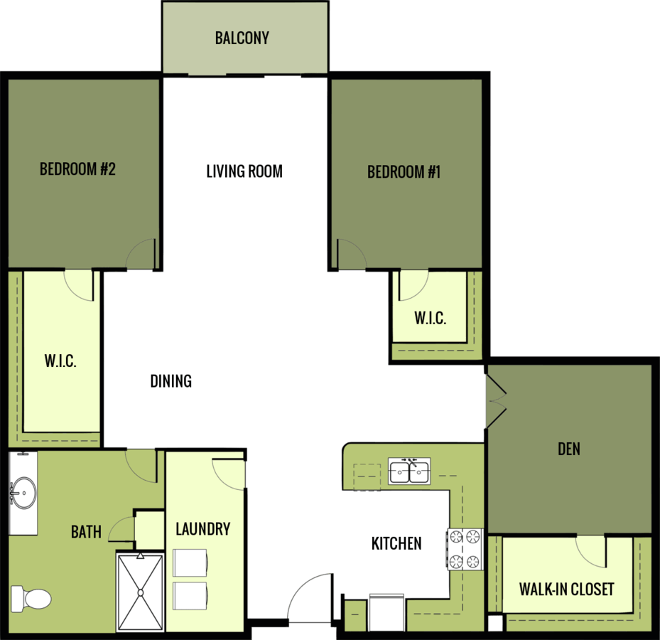 2 Bedrooms 1 Bathroom Apartment for rent at Riverside Senior Apartments in Fond Du Lac, WI
