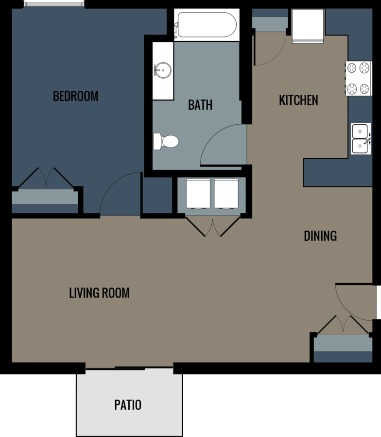 1 Bedroom 1 Bathroom Apartment for rent at Ridgecrest Apartments in Madison, WI