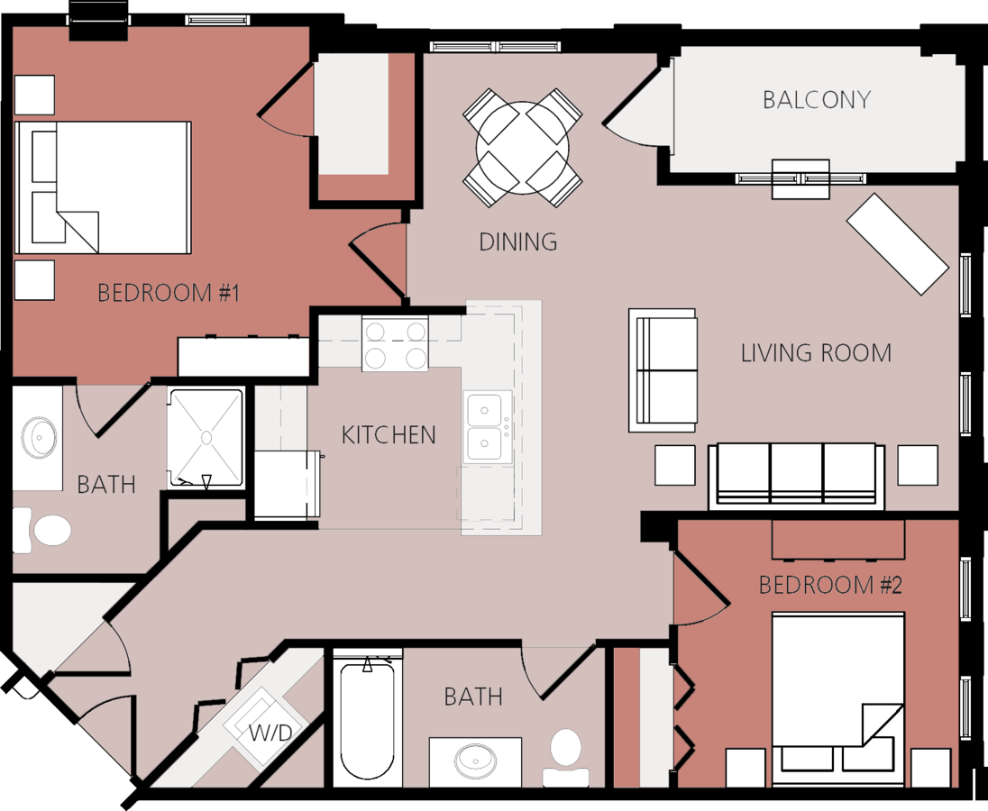 2 Bedrooms 2 Bathrooms Apartment for rent at Park Place Senior Apartments in Reedsburg, WI