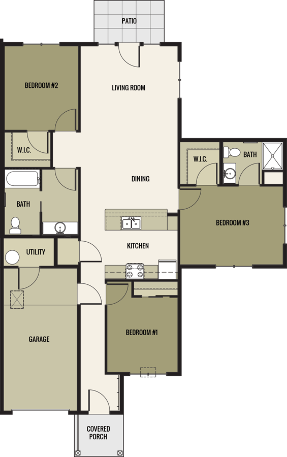 3 Bedrooms 2 Bathrooms Apartment for rent at Mission Village Of Dodgeville in Dodgeville, WI
