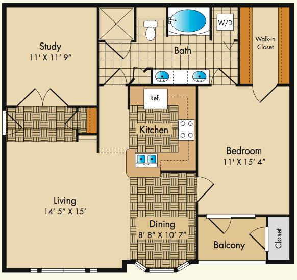 1 Bedroom 1 Bathroom Apartment for rent at Dobson Mills in Philadelphia, PA