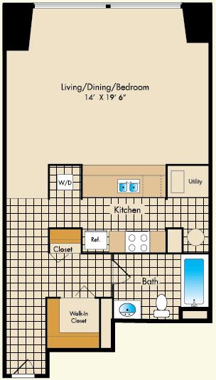 Studio 1 Bathroom Apartment for rent at Dobson Mills in Philadelphia, PA
