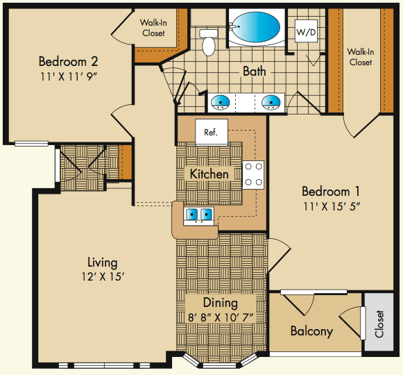 2 Bedrooms 1 Bathroom Apartment for rent at Dobson Mills in Philadelphia, PA