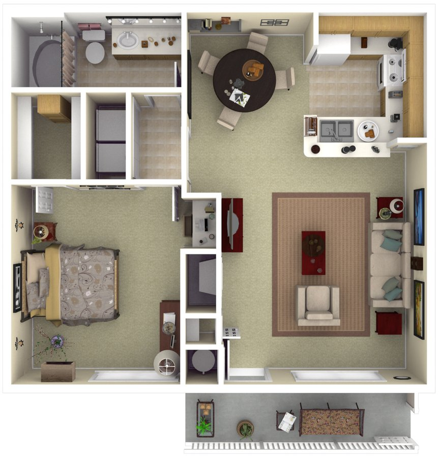 1 Bedroom 1 Bathroom Apartment for rent at The Vintage At South Meadows in Reno, NV