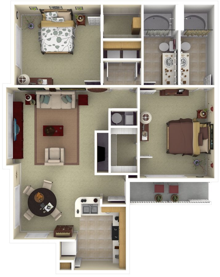 2 Bedrooms 2 Bathrooms Apartment for rent at The Vintage At South Meadows in Reno, NV
