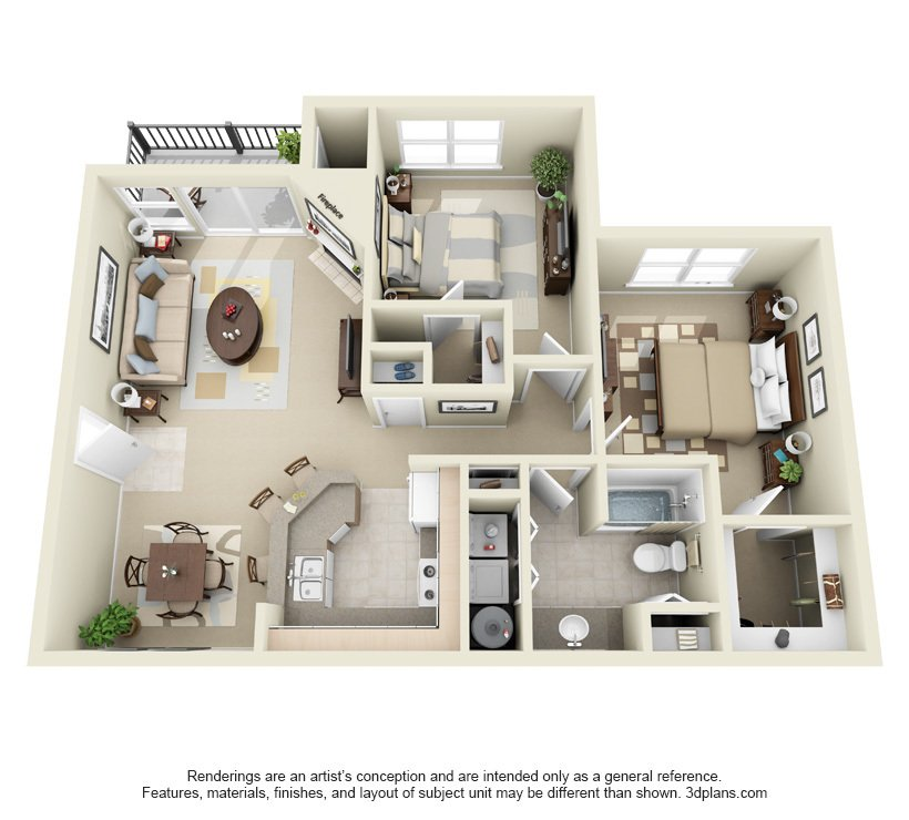 2 Bedrooms 1 Bathroom Apartment for rent at Centro in Hillsboro, OR