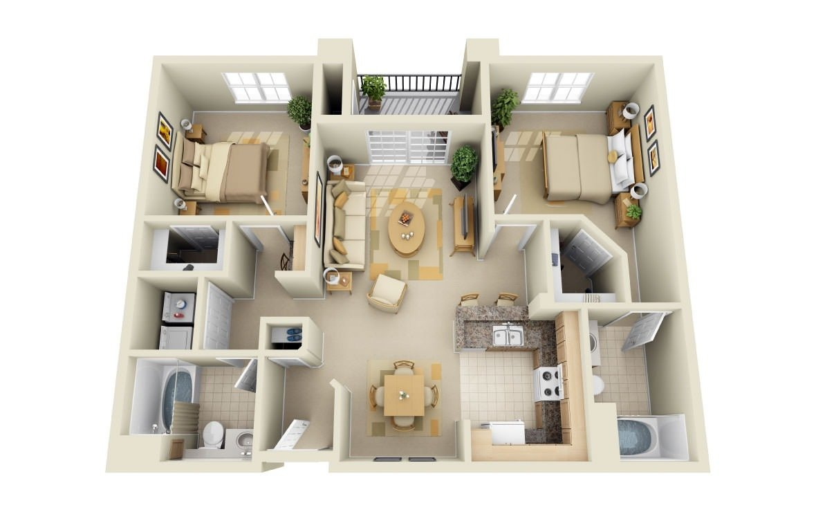 2 Bedrooms 2 Bathrooms Apartment for rent at Park Central in Concord, CA