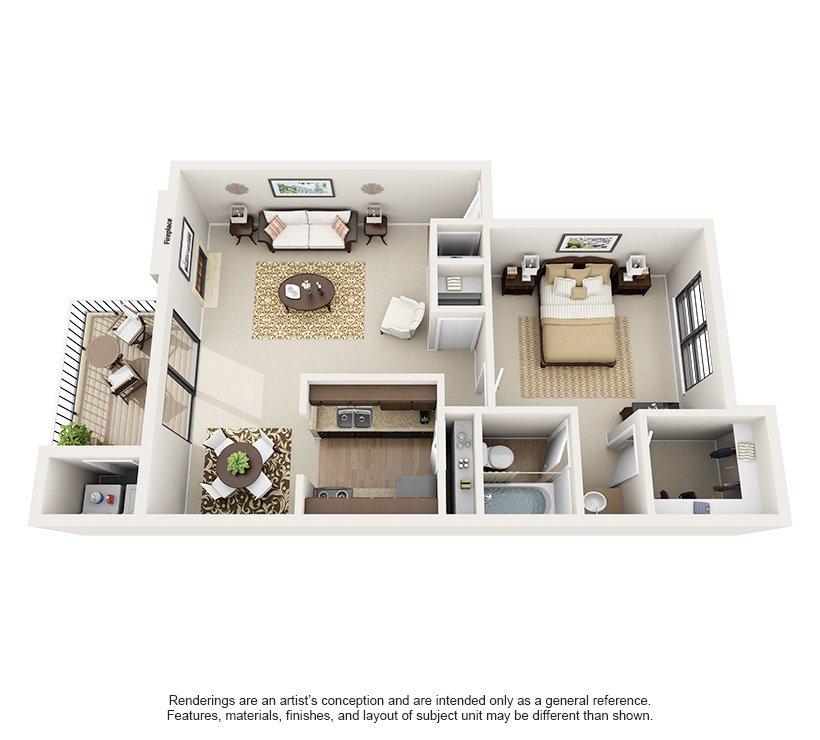 1 Bedroom 1 Bathroom Apartment for rent at Montecito in Austin, TX