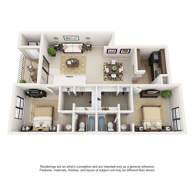 2 Bedrooms 2 Bathrooms Apartment for rent at Montecito in Austin, TX