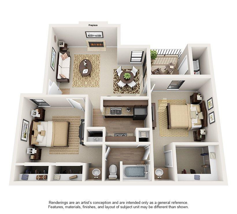 2 Bedrooms 1 Bathroom Apartment for rent at Montecito in Austin, TX