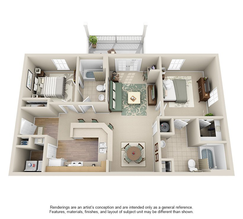 2 Bedrooms 2 Bathrooms Apartment for rent at The Reserve At Creekside in Chattanooga, TN