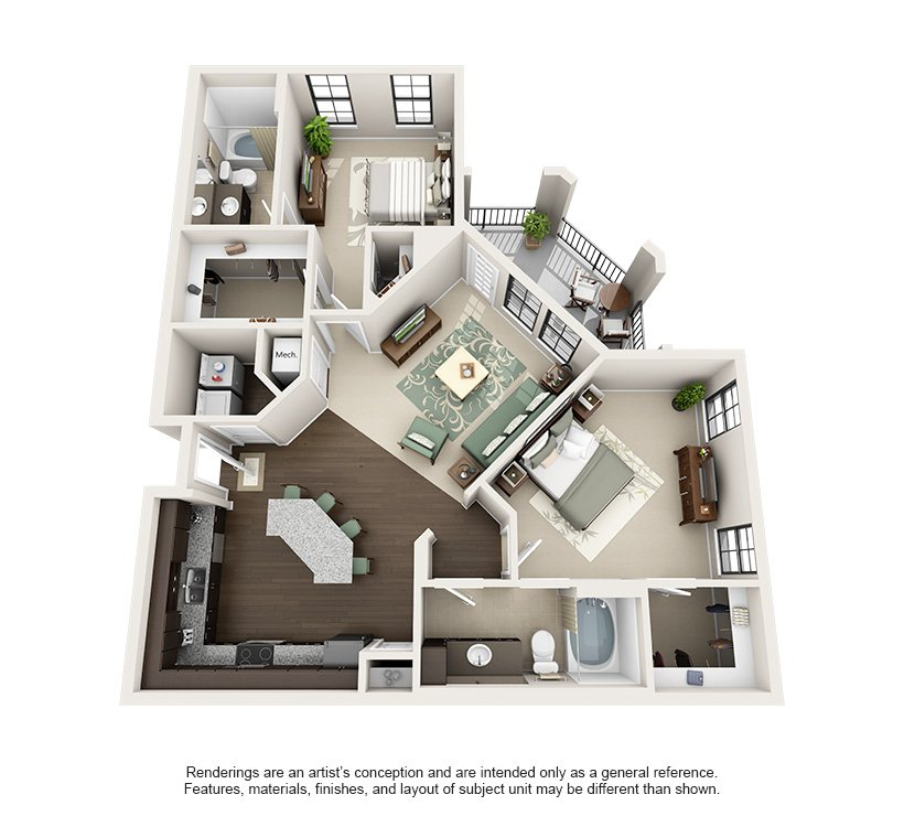 2 Bedrooms 2 Bathrooms Apartment for rent at Tapestry Park in Birmingham, AL