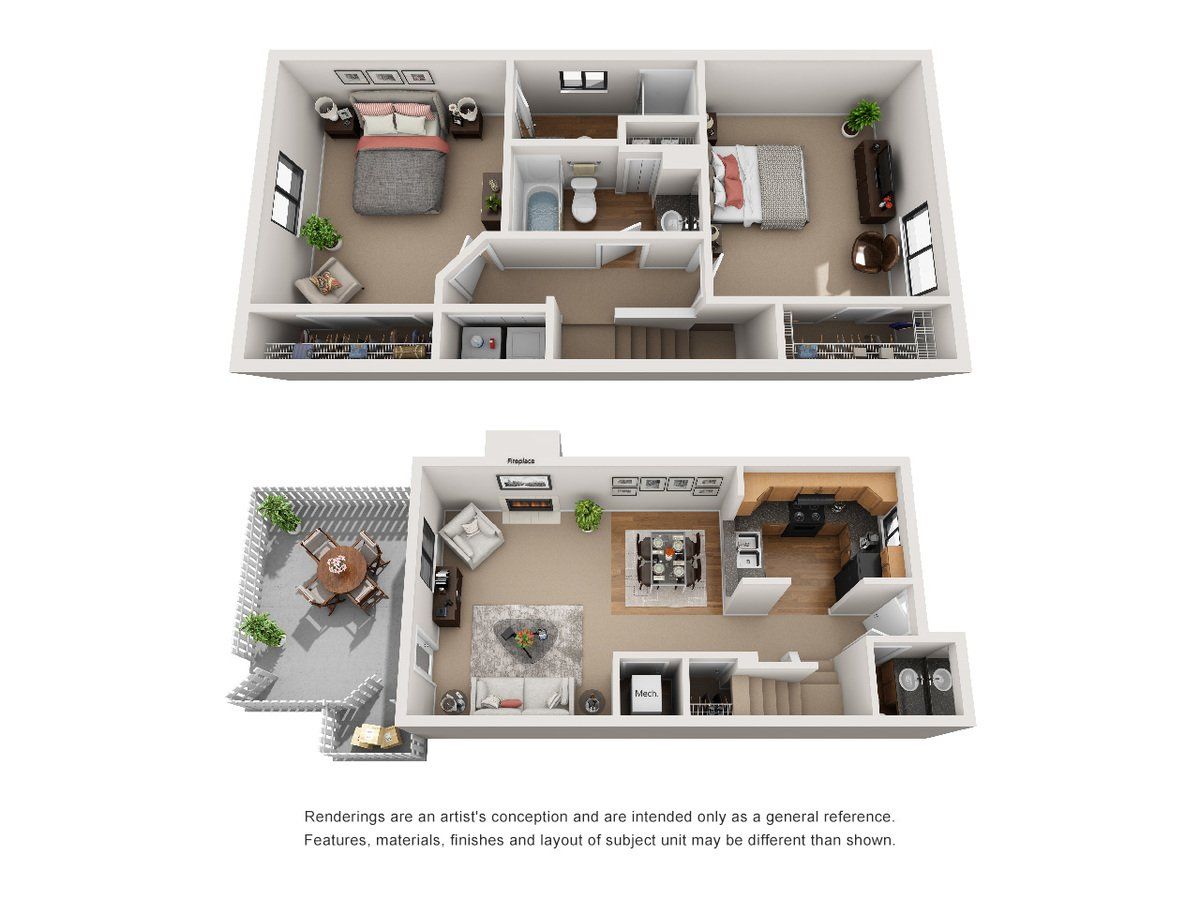 2 Bedrooms 2 Bathrooms Apartment for rent at Avery Point in Indianapolis, IN