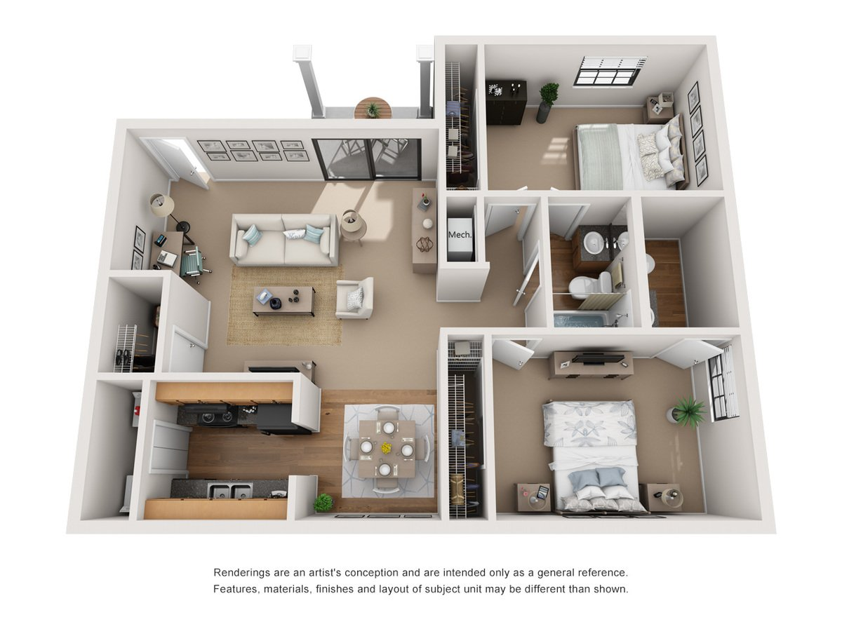 2 Bedrooms 1 Bathroom Apartment for rent at Avery Point in Indianapolis, IN
