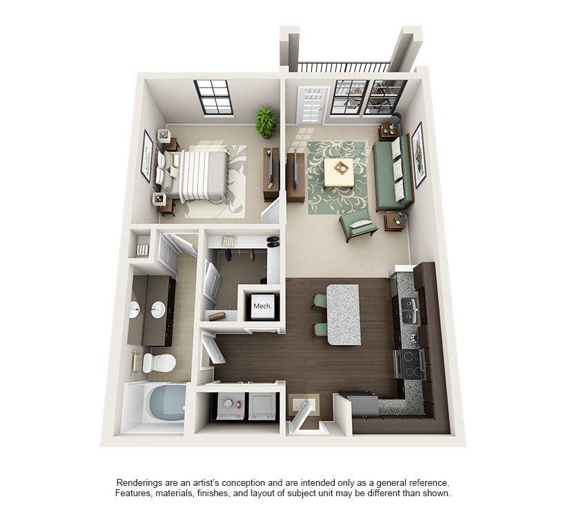 1 Bedroom 1 Bathroom Apartment for rent at Tapestry Park in Birmingham, AL