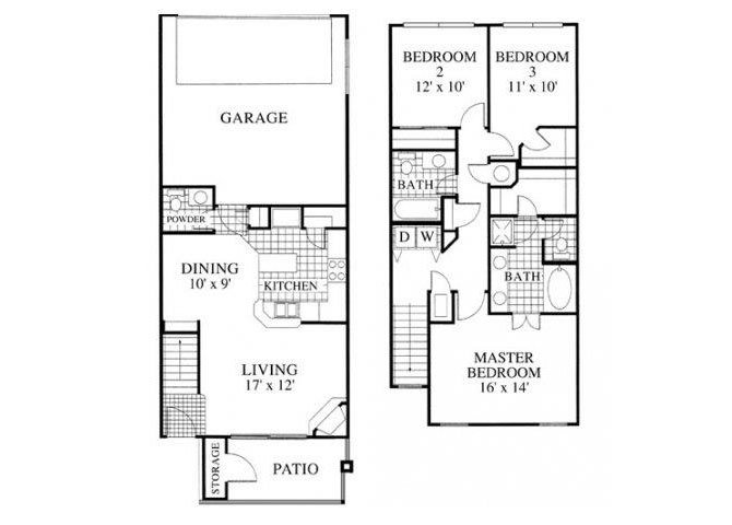 3 Bedrooms 2 Bathrooms Apartment for rent at Lowry Park in Denver, CO
