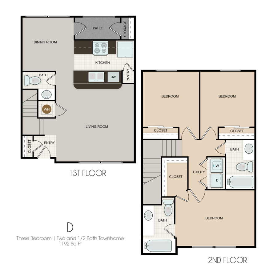 3 Bedrooms 2 Bathrooms Apartment for rent at Park Yellowstone Townhomes in Houston, TX