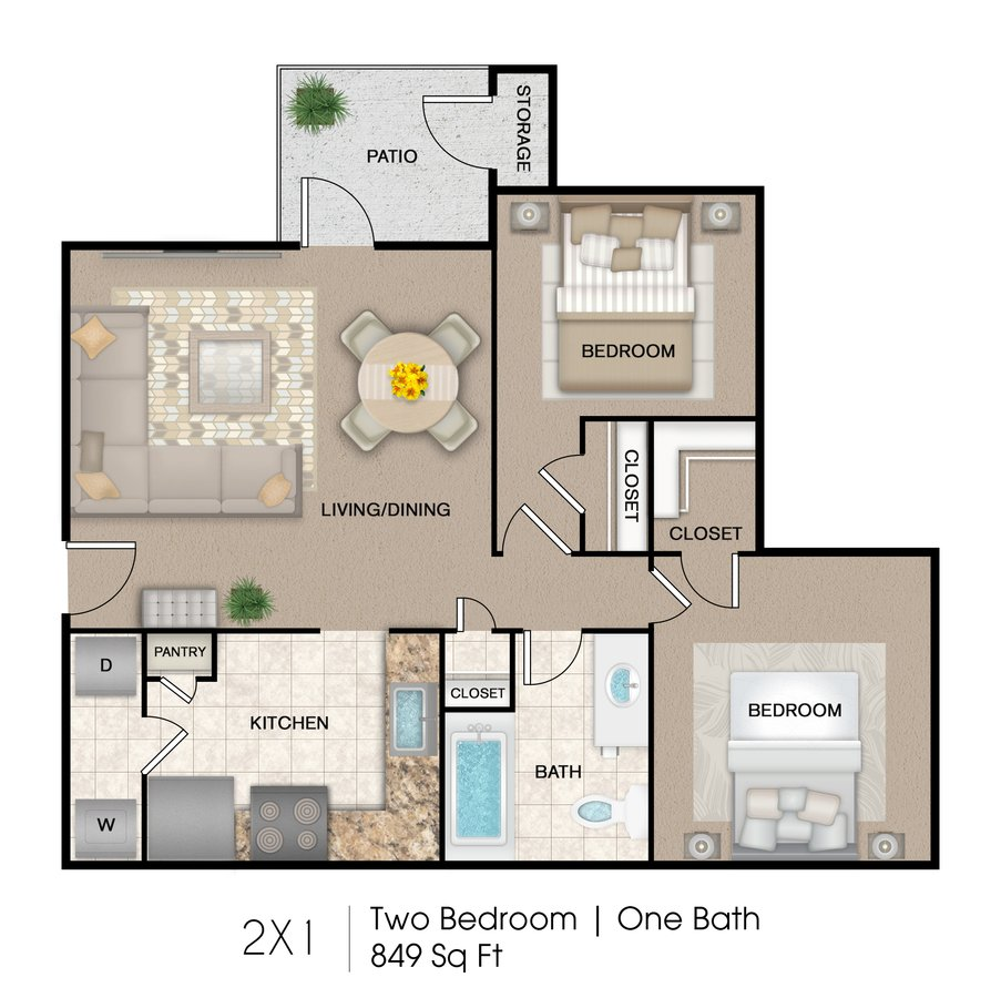 2 Bedrooms 1 Bathroom Apartment for rent at Marshall Meadows Apartment Homes in San Antonio, TX