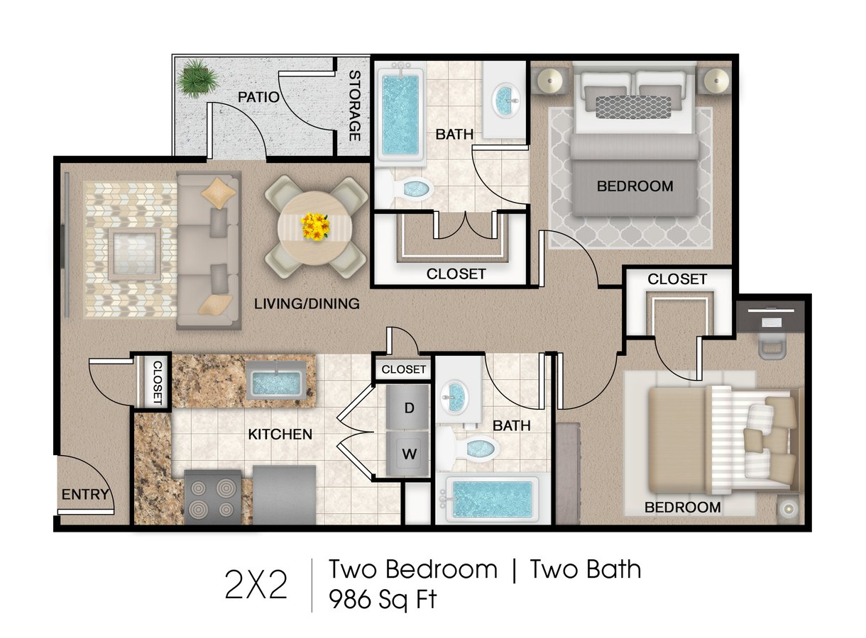 2 Bedrooms 2 Bathrooms Apartment for rent at Marshall Meadows Apartment Homes in San Antonio, TX