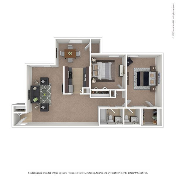 2 Bedrooms 2 Bathrooms Apartment for rent at Oakton Park Apartments in Fairfax, VA