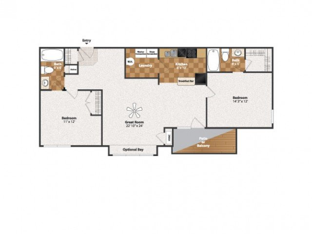 2 Bedrooms 2 Bathrooms Apartment for rent at Centennial Station in Cincinnati, OH