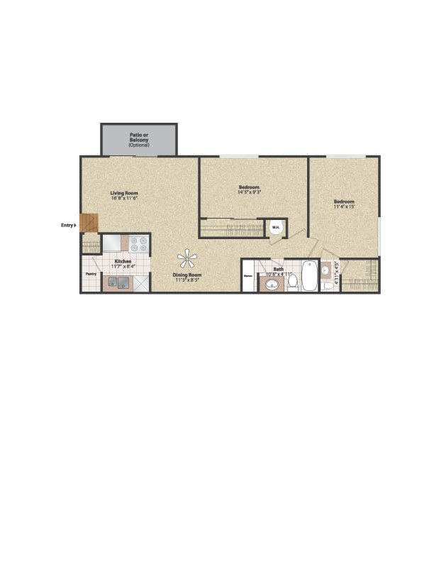 2 Bedrooms 1 Bathroom Apartment for rent at Gettysburg Square in Fort Thomas, KY