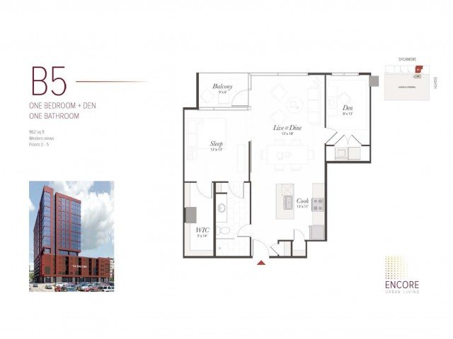 1 Bedroom 1 Bathroom Apartment for rent at Encore in Cincinnati, OH