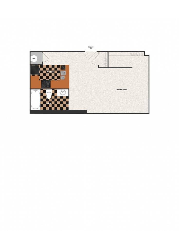 Studio 1 Bathroom Apartment for rent at Sycamore Place in Cincinnati, OH
