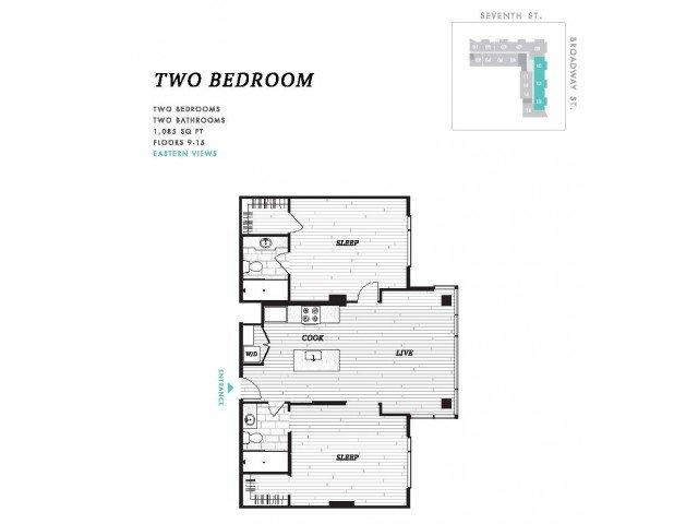 2 Bedrooms 2 Bathrooms Apartment for rent at Seven At Broadway in Cincinnati, OH