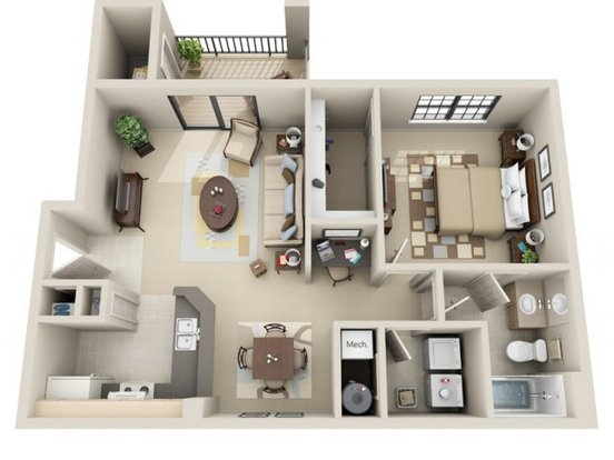 1 Bedroom 1 Bathroom Apartment for rent at Lakeshore Ridge Apartments in Birmingham, AL
