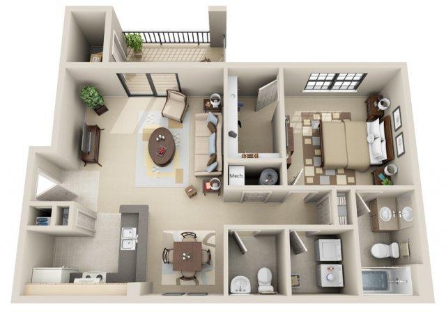 1 Bedroom 2 Bathrooms Apartment for rent at Lakeshore Ridge Apartments in Birmingham, AL