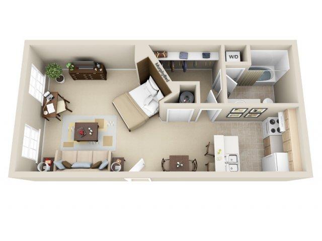 Studio 1 Bathroom Apartment for rent at Wildwood Crossings in Birmingham, AL