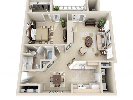 1 Bedroom 1 Bathroom Apartment for rent at Wildwood Crossings in Birmingham, AL