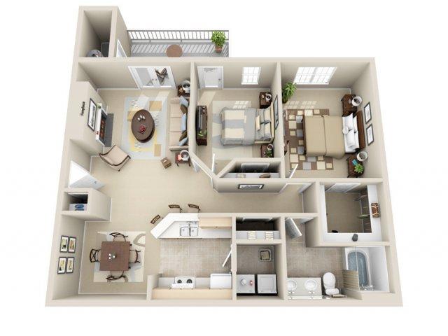2 Bedrooms 1 Bathroom Apartment for rent at Wildwood Crossings in Birmingham, AL