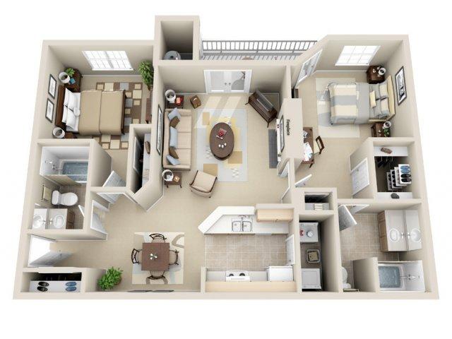 2 Bedrooms 2 Bathrooms Apartment for rent at Wildwood Crossings in Birmingham, AL