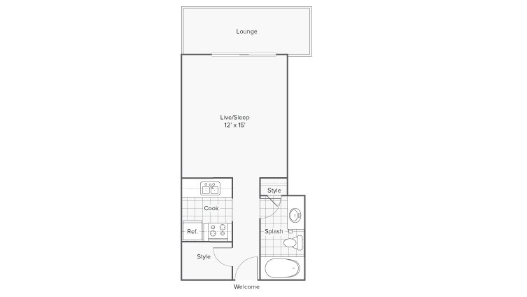 Studio 1 Bathroom Apartment for rent at Renew Riverview in Memphis, TN