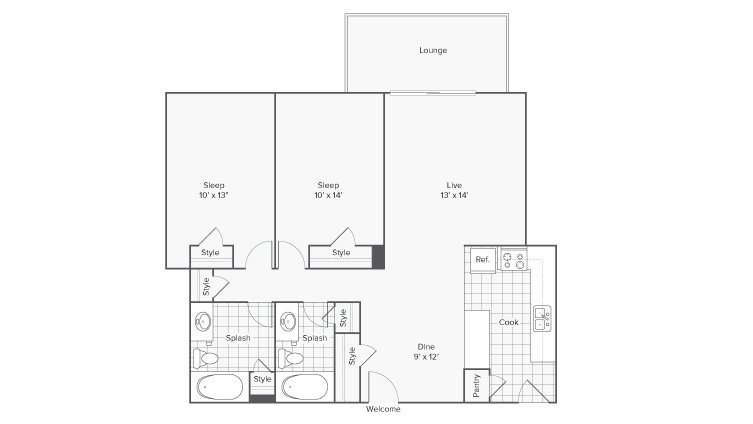 2 Bedrooms 2 Bathrooms Apartment for rent at Renew Riverview in Memphis, TN