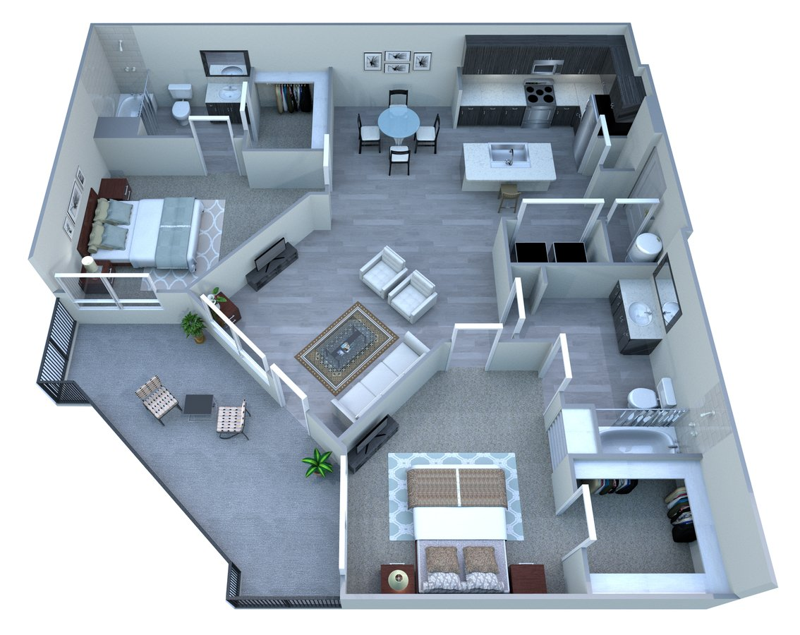 2 Bedrooms 2 Bathrooms Apartment for rent at Tempo At Mcclintock Station in Tempe, AZ