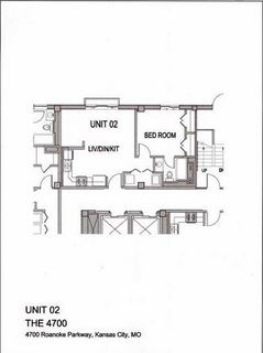 1 Bedroom 1 Bathroom Apartment for rent at The 4700 in Kansas City, MO