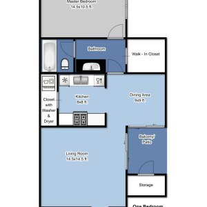 1 Bedroom 1 Bathroom Apartment for rent at Park Plaza in Brown Deer, WI
