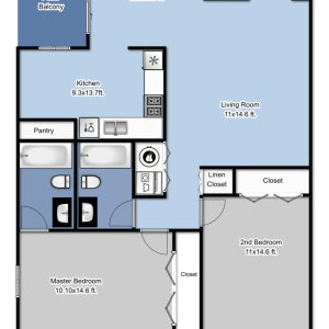 2 Bedrooms 2 Bathrooms Apartment for rent at Park Plaza in Brown Deer, WI