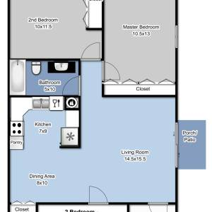 2 Bedrooms 1 Bathroom Apartment for rent at Applegate Apartments in Appleton, WI
