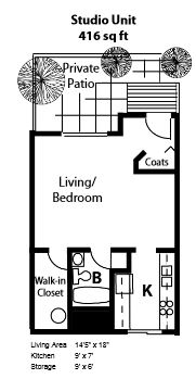 Studio 1 Bathroom Apartment for rent at Lakepoint Commons Apartments in Madison, WI